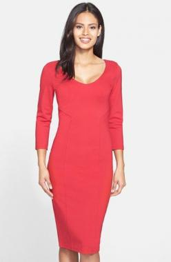 Great for date night......FELICITY & COCO Midi Sheath Dress (Nordstrom Exclusive) available at #Nordstrom: Midi Length, Midi Sheath, Zipper Travels, Nordstrom Exclusive, Chart Modernized, Dress Defined, Coco Midi, Sheath Dresses