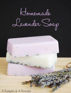 How to Make Homemade Lavender Soap: Homemade Lavender, Homemade Soaps, Soap Making, Lavender Soap, Diy Lavender, Handmade Gift