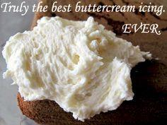 How To: Make the Best Buttercream Icing--- I made this and my mom kept asking if I used real butter, if it was really buttercream frosting etc, cause she couldn't taste the butter, VERY good frosting, one I'll use as my go-to, very simple too..mak