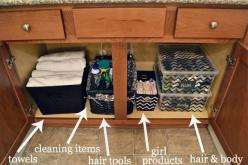 how to organized your bathroom cupboards & other bathroom organizing tips and tricks!: Bathroom Sink, Organizing Tips, Bathroom Idea, Bathroom Organization, Bathroom Cupboards, Organizing Bathroom, Master Bathroom