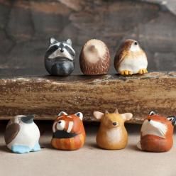 Le Animale's adorable little Fat-Fat Totem animal collection. So cute!: Leanimale Com, Clay Totem Animal, Le Fat Fat, Fat Fat Custom, Clay Animal Totems, Custom Totem, Totem Animals, Polymer Clay
