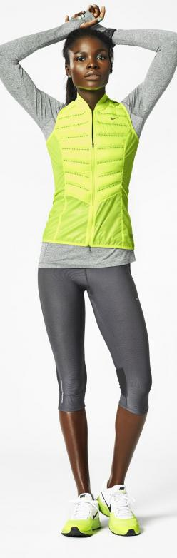Light up your run. #Nike #running #style: Sportswear, Workout Outfit, Nike Workout, Fitness, Nikes, Nike Running, Workout Clothes, Running Vest