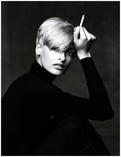 linda evangelista - blonde and black and white: 90 S, Fashion, Style, Lindaevangelista, Linda Evangelista, Hair, Patrick Demarchelier, Photography