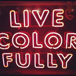 live colorfully Kate Spade #neon #sign: Kate Katespadeny, Quote, Live Colorfully, Katespadeny Instagram, Katespadeny Vespa, Kate Spade, Ridecolorfully Katespadeny