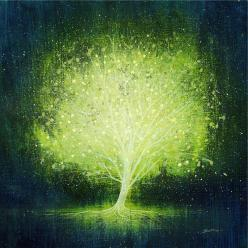 """Mark Duffin; Acrylic, 2011, Painting """"light up"""": Lights, Mark Duffin, Trees, Paintings, Markduffin"""
