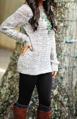 MonStylish - Fashion & Style Blog: Winter Outfit: Statement Necklace, Style, Dream Closet, Clothess, Fall Outfits, Winter Outfits, Fall Fashion, Fall Winter
