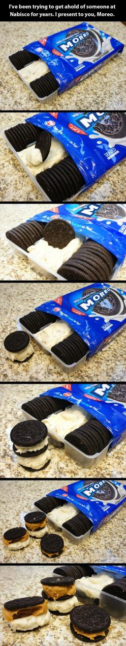 Moreos. MOREOS. If I had these my life would be complete.: Idea, Sweet, Moreos, Food, Moreo Omg, M Oreos, Dessert