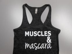 Muscles And Mascara Shirt. Burnout Workout by StrongGirlClothing, $21.99: Fitness, Mascara Tank, Muscles, Mascara Shirt, Masks, Crossfit
