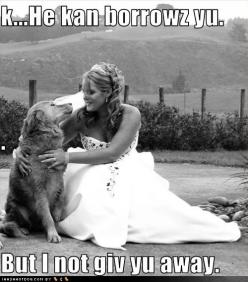 OK, he can borrow you, but I'm not giving you away! So stinkin precious: Picture, Animals, Dogs, Prince, Wedding, Pet, Puppy, Friend
