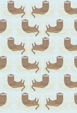 otter patterns: Flickr, Fabric Patterns, Otter Patterns, Header Patterns, Photo Sharing, Eermagaaaad Otters, Otter Print, Lil Otters, Happy Otters