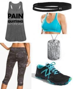 Pin It pain is temporary alo practice capri new balance minimus UA action headband dig deep, rise up vixen bra: Training Outfit, Fitness Fashion, Style, Workout Gear, Fitness Gear, Workout Outfits, Crossfit Outfit, Workout Clothes