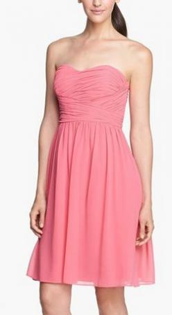 Pretty in pink: Nordstrom, Strapless Ruched, Chiffon Donna, Ruched Chiffon, Brown Morgan, Bride Bridesmaid Dresses, Chiffon Dresses, Chiffon Bridesmaid Dresses