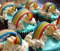 Rainbow Cupcakes – Cute Cupcakes: Birthday, Sweet, Food, Rainbows, Yummy, Rainbow Cupcakes, Party Ideas, Dessert