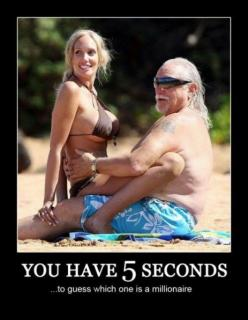 Rich Ugly Guys With Hot Chicks: Second, Funny Pictures, Millionaire, Guess, Demotivational Posters, Funny Stuff, Humor, Funnies