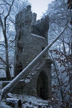 "Ruins of Castle ""Karlsburg"" nearby Rheinböllen and Stromberg What we have done for ourselves alone dies with us; what we have done for others and the world remains and is immortal. ~Albert Pike: Karlsburg Castle, Abandoned Beauty, Castle Ruins, Abandoned"