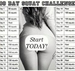 Squat Challenge, Im currently doing this, on day 7 and I already have results!!!! DO IT, you deserve it :): 30 Day Squat, Challenges, Squat Challenge, Fitness, Workouts, Motivation, Exercise, Challenge Accepted, Crossfit Squats