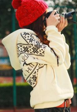 Super cute deers print hoodie fashion I want this for the winters here!: Fashion, Hoodie, Style, Dream Closet, Winter Outfit, Comfy Sweater, Fall Winter