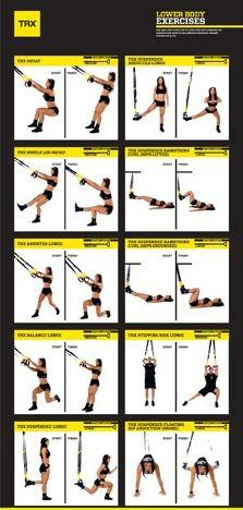 TRX workout - you'll feel it in the morning ;): Body Workouts, Trx Leg Workout, Trx Workout, Trx Exercise, Lower Body Workout, Fitness Workout