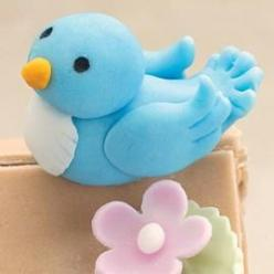 Use this Fondant Blue Bird to symbolize happiness at a shower or birthday celebration. Details like notched feathers and a cone beak make him soar!: Bluebirds, Wilton Bluebird, Cupcake, Cakes, Fondant Figures, Cake Decorating, Cake Toppers