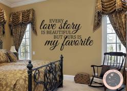 Wall Decal Every Love Story is Beautiful  by FourPeasinaPodVinyl, $17.00 wall decals, love story, beautiful, decals, vinyl lettering art https://www.etsy.com/shop/fourpeasinapodvinyl: Bedroom Decor, Etsy, Bedroom Wall Decals, Wall Quotes, Inspirational Qu