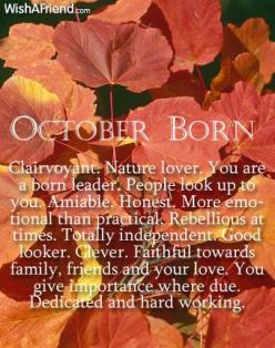 What does your Birth Month say about you? - Born in October: Books, Happy Birthday, Girl, Birth Month, Birthday Month, October Birthday, October Baby, October Born
