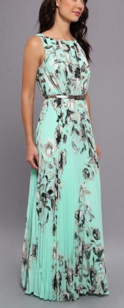 Women's fashion | Mint floral maxi dress: Maxi Dresses, Floral Maxi, Fashion, Style, Pleated Maxi, Maxis, Maxidress, Modest Summer Dress