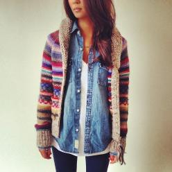 Wonder Forest: Style, Design, Life.: Fashion, Style, Dream Closet, Denim Shirts, Fall Outfit, Fall Winter