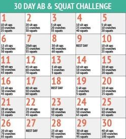 30 day ab and squat challenge: 30 Day Challenge, Squat Challenge, Bum Workout, Workout Challenge, Workouts, Work Outs, Exercise, Fitness Challenges, Butt Workout