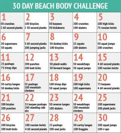 30 Day Fitness Challenges - The 30 Day Beach Body Workout Challenge-- I don't care is school is kind of almost here, it'll be for the school year instead!: 30 Day Challenge, Workout Challenge, Beachbody, Fitness Challenge, 30 Days, Exercise, Beach