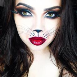 30 Incredible (and Easy) Halloween Makeup Ideas | style caster  (the shadows behind the whiskers): Cat Face, Halloween Costumes, Costume Ideas, Cat Halloween Costume, Halloween Makeup, Makeup Ideas, Halloween Ideas, Halloweenmakeup