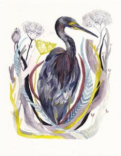 Absolutely gorgeous archival print of a Blue Heron.  Price $20.  Michelle Morin (unitedthread): Ideas, Watercolor Print, Art, Illustration, Michelle Morin