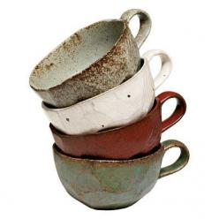 All-Day Wabi Sabi Mugs may look imperfect, but they're the perfect way to support companies that sell fair-trade products.: Earthy Kitchen, Cups, Wabi Sabi, Wabisabi, Pottery Mug, Ceramic, Coffee Mugs, Teacup