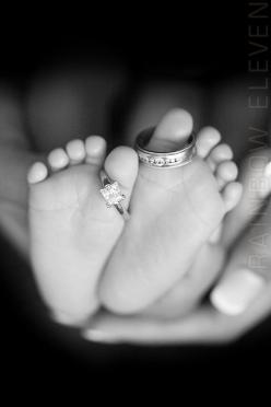 Beautiful picture idea...: Photoidea, Wedding Ring, Photo Ideas, Newborn Photo, Baby Photos, Babyphoto, Picture Ideas