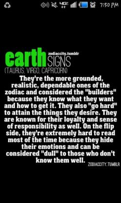 Earth Signs: Taurus, Virgo, Capricorn: Virgos, Taurus Virgo, Zodiac Signs, Capricorn S, Earth Signs, Signs Taurus, Earthsigns, Zodiac City