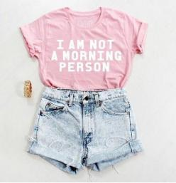 Everyday New Fashion: Lovely Summer Teenage Fashion: Outfits, Summer Outfit, T Shirt, Style, Clothes, Morning Person, Teenage Fashion, Morningperson, Mornings