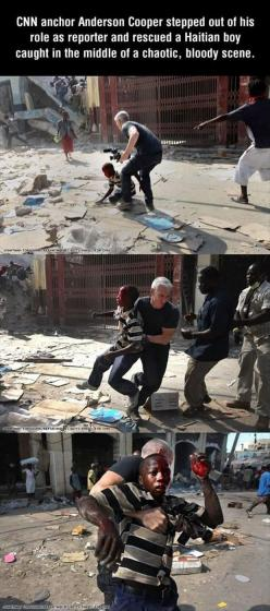 Faith In Humanity Restored: This Man, Anderson Cooper, Faithinhumanity, Hero, Guy, Faith In Humanity Restored, Silver Foxes, Faith Restored
