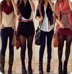 Fall outfits. Panty hoes with skirt or shorts: Falloutfit, Outfit Ideas, Style, Dream Closet, Clothes, Fall Outfits, Winter Outfit, Fall Fashion, Fall Winter