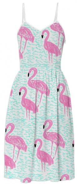 Flamingos and Waves Dress from Print All Over Me: 0000004P Flamingos, Flamingo Print, Flamingos Fashion, Fabulous Flamingos