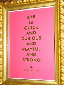 Frame the cards that come in the box when you buy something from Kate Spade.   Use on tray in bathroom: Kate Spade Quote, Kate Spade Room, Framed Quote, Kate Spade Print, Card, Chinoiserie Chic, Katespade