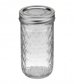 Great drinking glasses for a party. Inexpensive, cheap. Ball Quilted Crystal Jelly Jar-12 Ounces: Crystals, Ball, Jellyjars, Dr. Oz, Jelly Jars, Mason Jars, 12 Oz