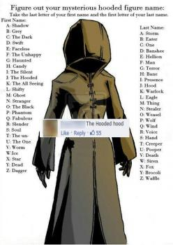 HAHA I had to pin this, because my name is DEAD DEATH!!!!!! HAHAHA!: Hand, Hooded Hood, Funny, Shadow Siren, Shadow Eater, Moon Moon, Shadows