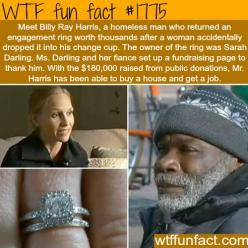 Homeless man returns a diamond ring - WTF fun facts: Homeless Man, Faith In Humanity, Accidentally Dropped, Meet Billy, Ring Worth, Billy Ray, Worth Thousands, Engagement Rings