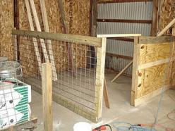 I think a good size pen. would extend fencing to ceiling and make bunk beds off the floor: Goat Barn, Idea, Barn Goat, Barn Pen, Pen Progress, Goat Pens, Children, 4 H Goats, Babies Goats