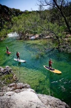 Id really like to try this...Paddleboarding in Austin- that water looks beautiful!: Bucketlist, Bucket List, Austin Texas, Lakes, Paddleboarding, Paddle Boarding, Place