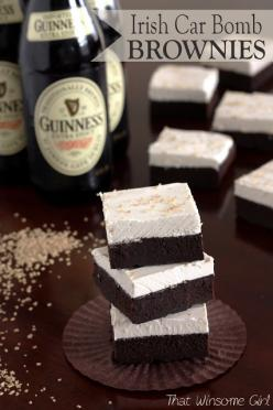 Irish Car Bomb Brownies.: Winsome Girl, Cars, Sweet Treats, Patricks, Bomb Brownies, Dessert