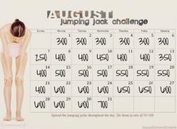 Jumping jack challenge. Doing 7000 jumping jack burns enough calories to lose a pound. Spread that out over a week and lose an extra pound.: Workout Challenges, Jumping Jack Challenge, Workouts, Jack O'Connell, Exercise, Jacks Challenge, August Jumpin