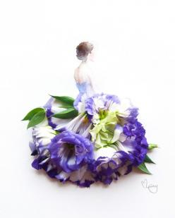 lim zhi wei's flower art! http://lovelimzy.blogspot.com/ http://instagram.com/lovelimzy: Flowerdress, Flower Art, Zhi Wei, Flower Dresses, Fashion Illustration, Flowerart, Flowers, Limzhi, Lim Zhi