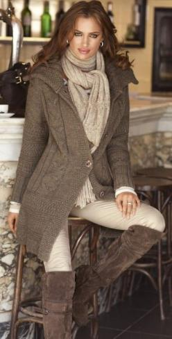long fall sweater and boots.....And those cream leggings...CAN NOT find them : (: Fall Sweater, Fall Style, Winter Outfit, Fall Outfit, Fall Fashion, Winter Fashion, Fall Winter