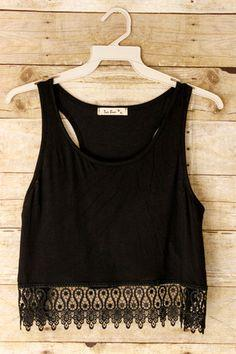 Man Hunter Crop Top: Black