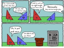 Math humor.... Love it! took me a while but i got it hahaha: Puns, Stuff, Triangles, Quote, Funny, Math Humor, Funnies, Math Jokes